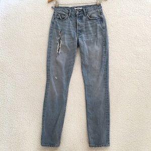 GRLFRND distressed Karolina jeans in last dance